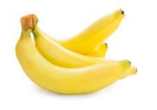 Fresh ripe bananas bunch. Bunch of bananas isolated on white background Stock Image