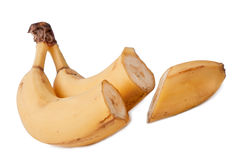 Fresh bananas. Fresh ripe bananas on white background Stock Photos