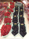Fresh ripe berries for sale Royalty Free Stock Image