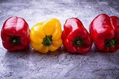 Fresh ripe  bulgarian pepper Royalty Free Stock Photography