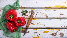 Fresh ripe  bulgarian pepper Stock Photo
