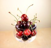 Fresh Ripe Cherries Stock Photos