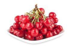 Fresh ripe cherries Stock Photos