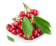Fresh ripe cherries Stock Images