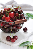 Fresh ripe cherries Royalty Free Stock Photos