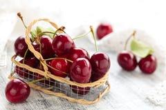 Fresh ripe cherries. Royalty Free Stock Image