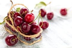 Fresh ripe cherries. Royalty Free Stock Photos