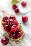 Fresh ripe cherries. Royalty Free Stock Images