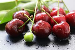 Fresh ripe cherry Royalty Free Stock Images