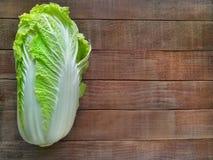 Fresh ripe chinese cabbage. stock image