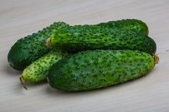 Fresh ripe cucumbers Stock Photo