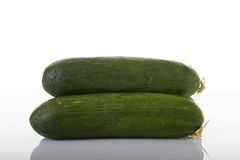 Green Ripe Cucumbers Royalty Free Stock Photos