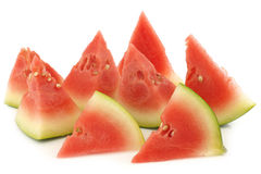Fresh and ripe cut watermelon pieces Royalty Free Stock Photos