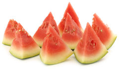 Fresh and ripe cut watermelon pieces Stock Images