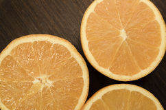 Fresh ripe cutted oranges Stock Photo