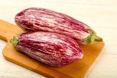Fresh ripe eggplant Royalty Free Stock Images