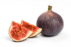 Fresh ripe figs on white Royalty Free Stock Images