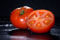 Fresh Ripe and Fleshy Tomatoes Royalty Free Stock Images