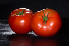 Fresh Ripe and Fleshy Tomatoes Stock Photo