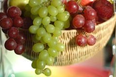 Fresh ripe fruit in basket Royalty Free Stock Image