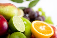 Fresh ripe fruits Royalty Free Stock Photos