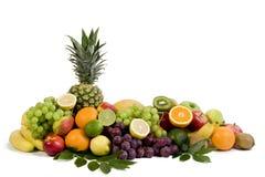 Fresh ripe fruits isolated on white background Royalty Free Stock Photo