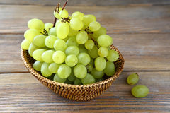 Fresh ripe grapes in a basket Stock Photo
