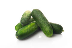 Fresh ripe green cucumbers Royalty Free Stock Photos
