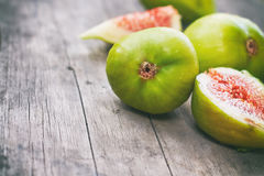 Fresh ripe green figs Stock Image