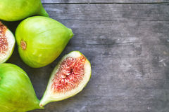 Fresh ripe green figs Royalty Free Stock Photography