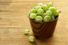 Fresh ripe green gooseberries Royalty Free Stock Image