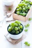 Fresh ripe green gooseberry Stock Photo