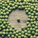 Fresh ripe green peas Stock Photography
