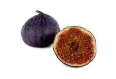 Fresh ripe halved purple fig Stock Photography
