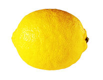 Fresh ripe juicy lemon isolated on white Royalty Free Stock Images