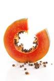 Fresh ripe juicy papaya slice Royalty Free Stock Photo
