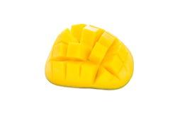 Fresh ripe juicy sliced mango on a white background, isolated Royalty Free Stock Photo