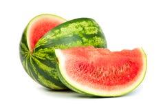 Fresh, ripe, juicy watermelon. Shot on White Stock Photos