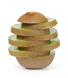 Fresh ripe kiwi fruit slices in stack Royalty Free Stock Photography