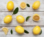Fresh ripe lemons Royalty Free Stock Photography