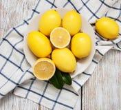 Fresh ripe lemons Stock Photos