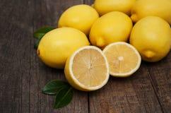 Fresh ripe lemons Stock Photo