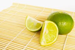 Fresh ripe lime Royalty Free Stock Images
