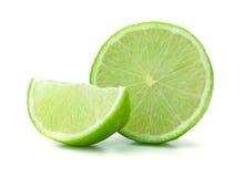 Fresh ripe lime. Isolated on white background Stock Photography
