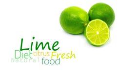 Fresh ripe lime. On white background Stock Photos