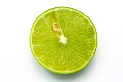 Fresh ripe lime. On white background Royalty Free Stock Photography