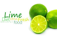 Fresh ripe lime. Isolated Stock Images