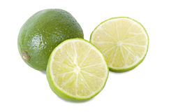 Fresh ripe lime  Royalty Free Stock Photography