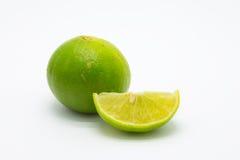 Fresh ripe lime on white background Royalty Free Stock Image