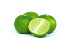 Fresh ripe lime.  on white background Royalty Free Stock Photo